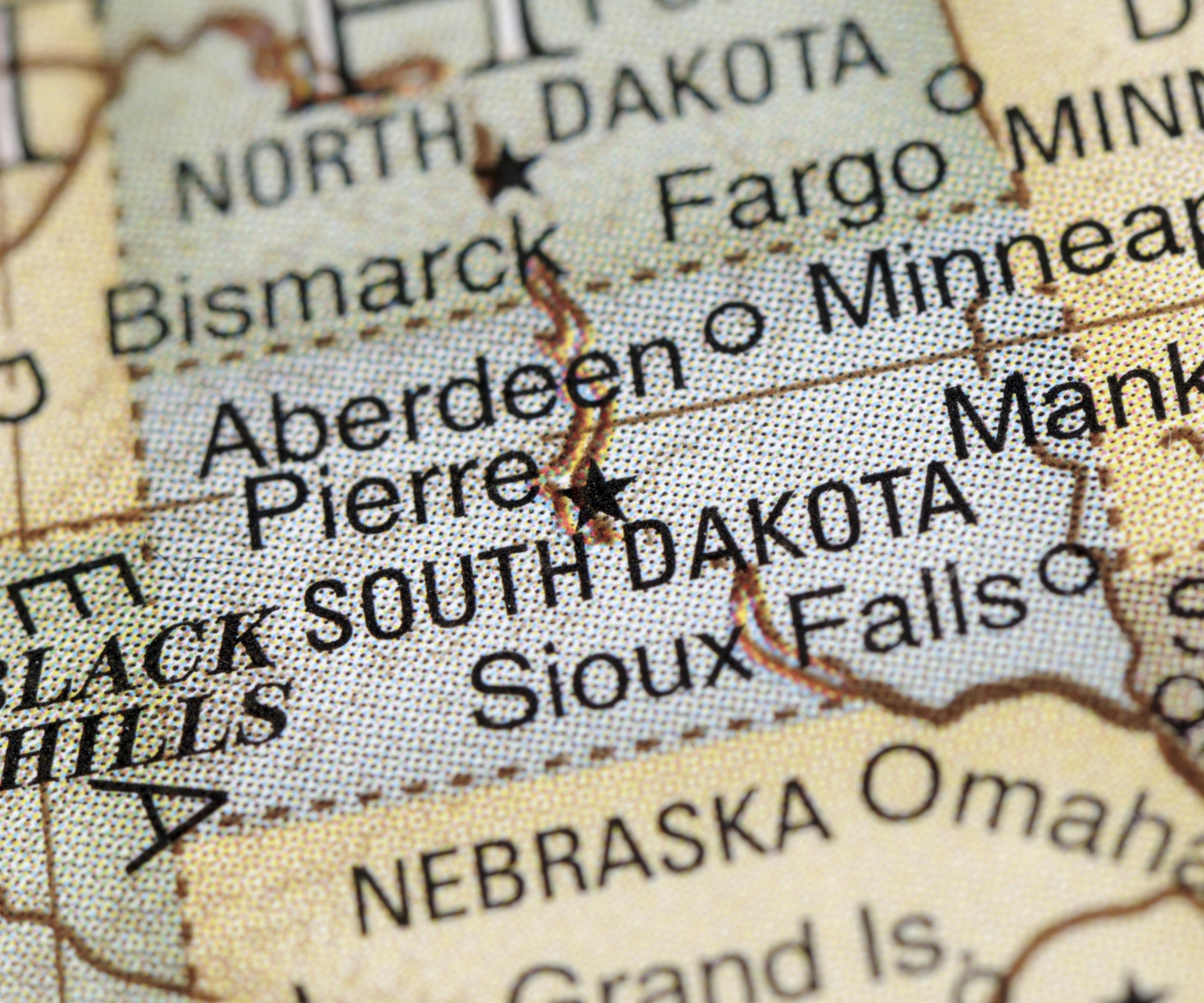 photograph regarding South Dakota County Map Printable called Printable Bike Maps South Dakota Rides