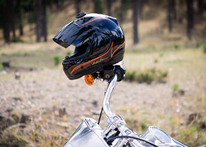 Helmet on Bike